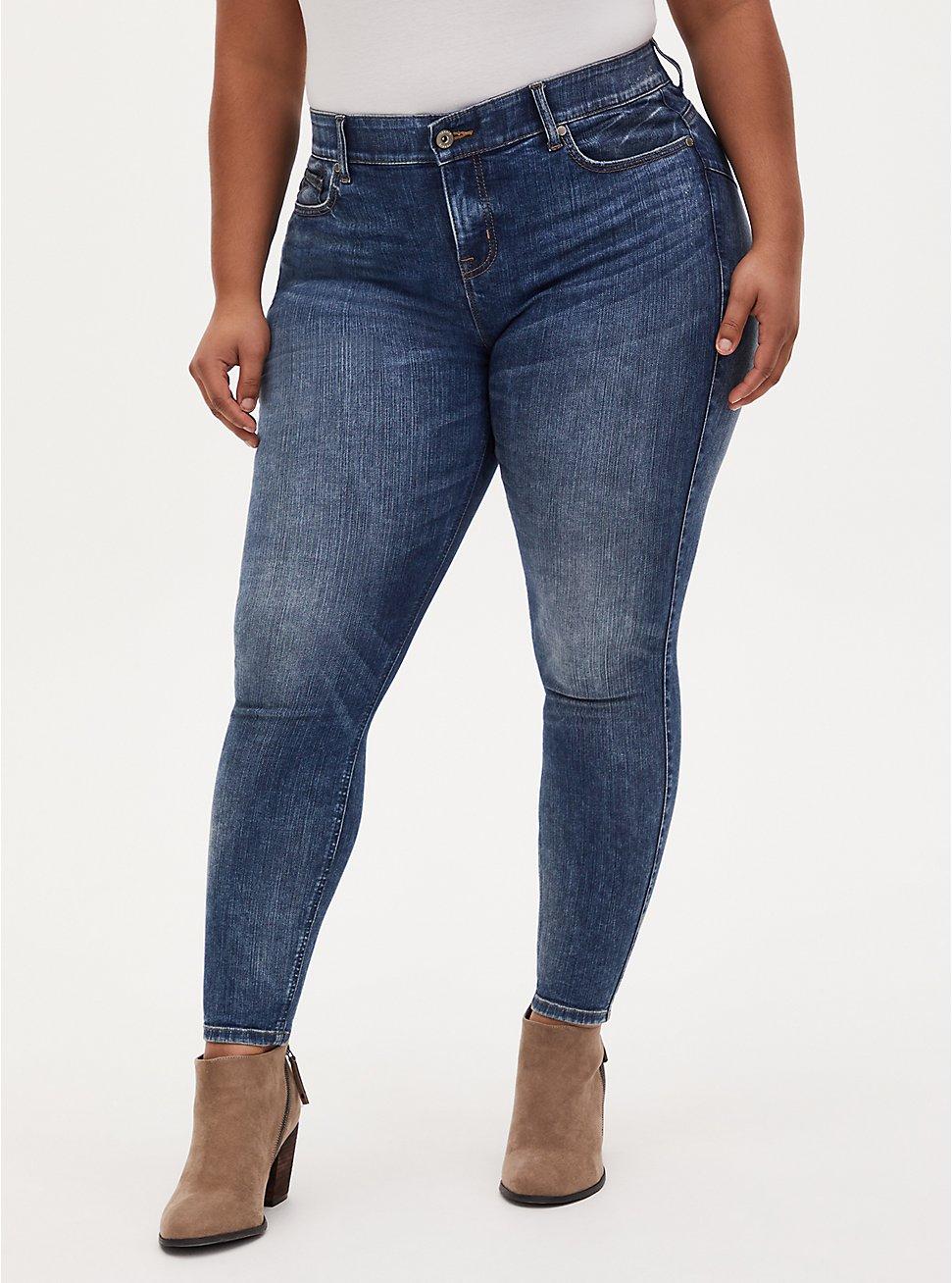 Plus Size Bombshell Skinny Jean - Premium Stretch Medium Wash, MELROSE, hi-res