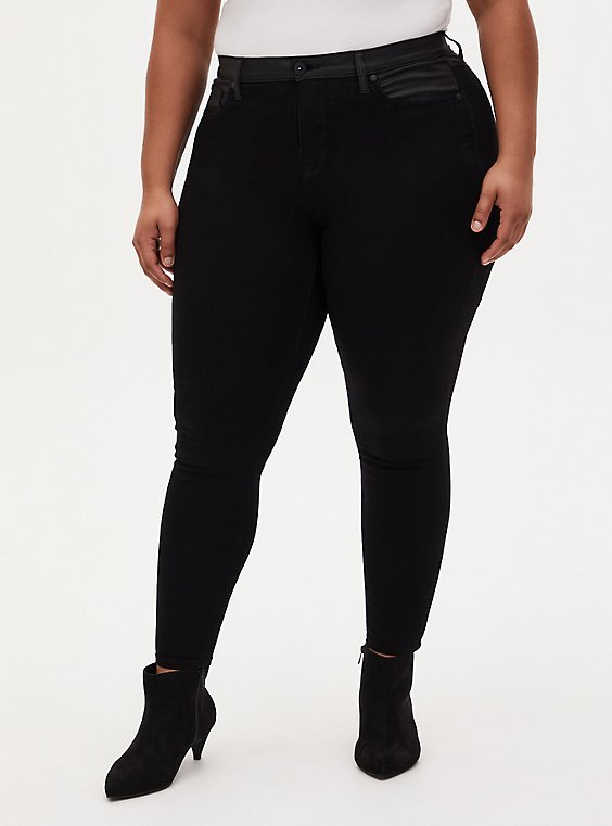 Sky High Skinny Jean - Super Soft Black, BLACK, hi-res