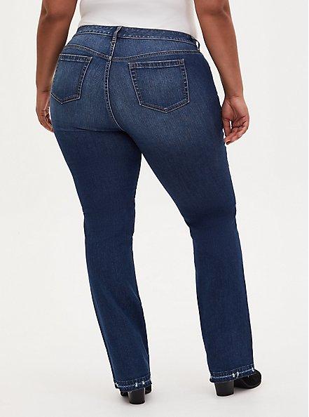 Mid Rise Slim Boot Jean- Vintage Stretch Medium Wash with Hem Detail, PRIMO, alternate