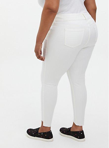 Plus Size Jegging - Super Soft White With Step Hem, WINTER WHITE, alternate