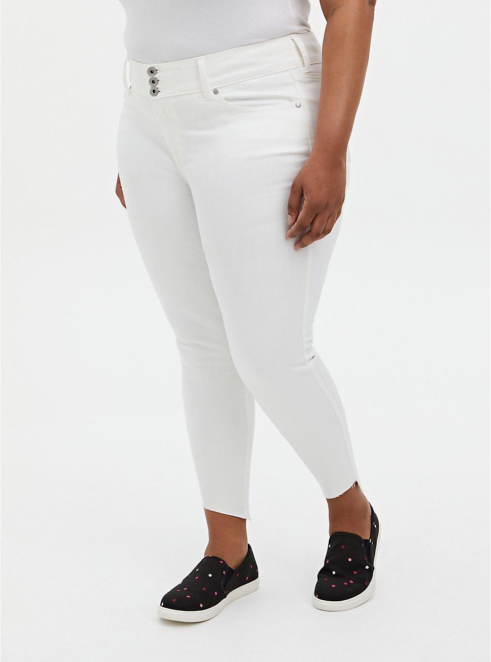 Plus Size Jegging - Super Soft White With Step Hem, WINTER WHITE, hi-res