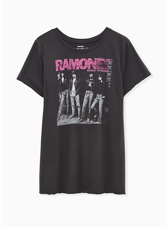Ramones Classic Fit Tee - Vintage Black, DEEP BLACK, hi-res