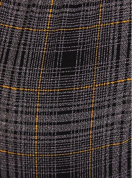 Textured Plaid Crepe Self Tie Pant, PLAID - MULTI, alternate
