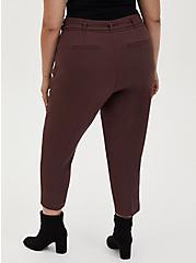 Rust Brown Belted Trouser, DEEP MAHOGANY, alternate