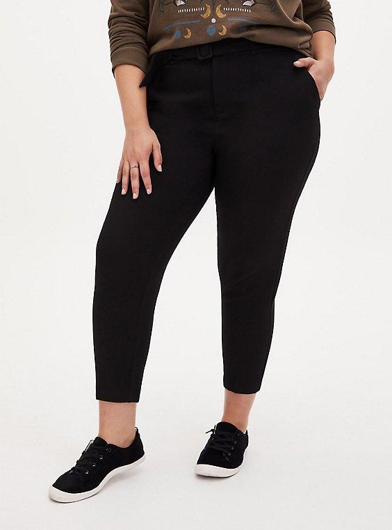 Black Belted Trouser, DEEP BLACK, hi-res