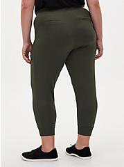 Relaxed Fit Jogger - Ponte Forest Green, ROSIN, alternate