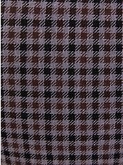 Studio Signature Stretch Grey Plaid Premium Ponte Menswear Trouser, PLAID - MULTI, alternate