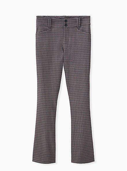 Studio Signature Stretch Grey Plaid Premium Ponte Menswear Trouser, PLAID - MULTI, hi-res