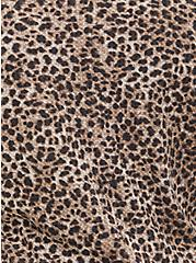 Leopard Waffle Knit Henley Top, , alternate