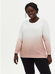 Super Soft Plush Taupe Dip-Dye Sweatshirt, DEEP DEPTHS, hi-res