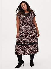 Plus Size Leopard Studio Knit Midi Dress, MIDI LEOPARD, hi-res