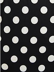 Black & White Polka Dot Studio Knit Halter Skater Dress, DOT -BLACK, alternate
