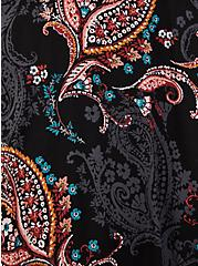Black Paisley Challis Skater Midi Dress, PAISLEY-BLACK, alternate