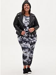 Black & Grey Tie-Dye Active Jogger, TIE DYE, alternate