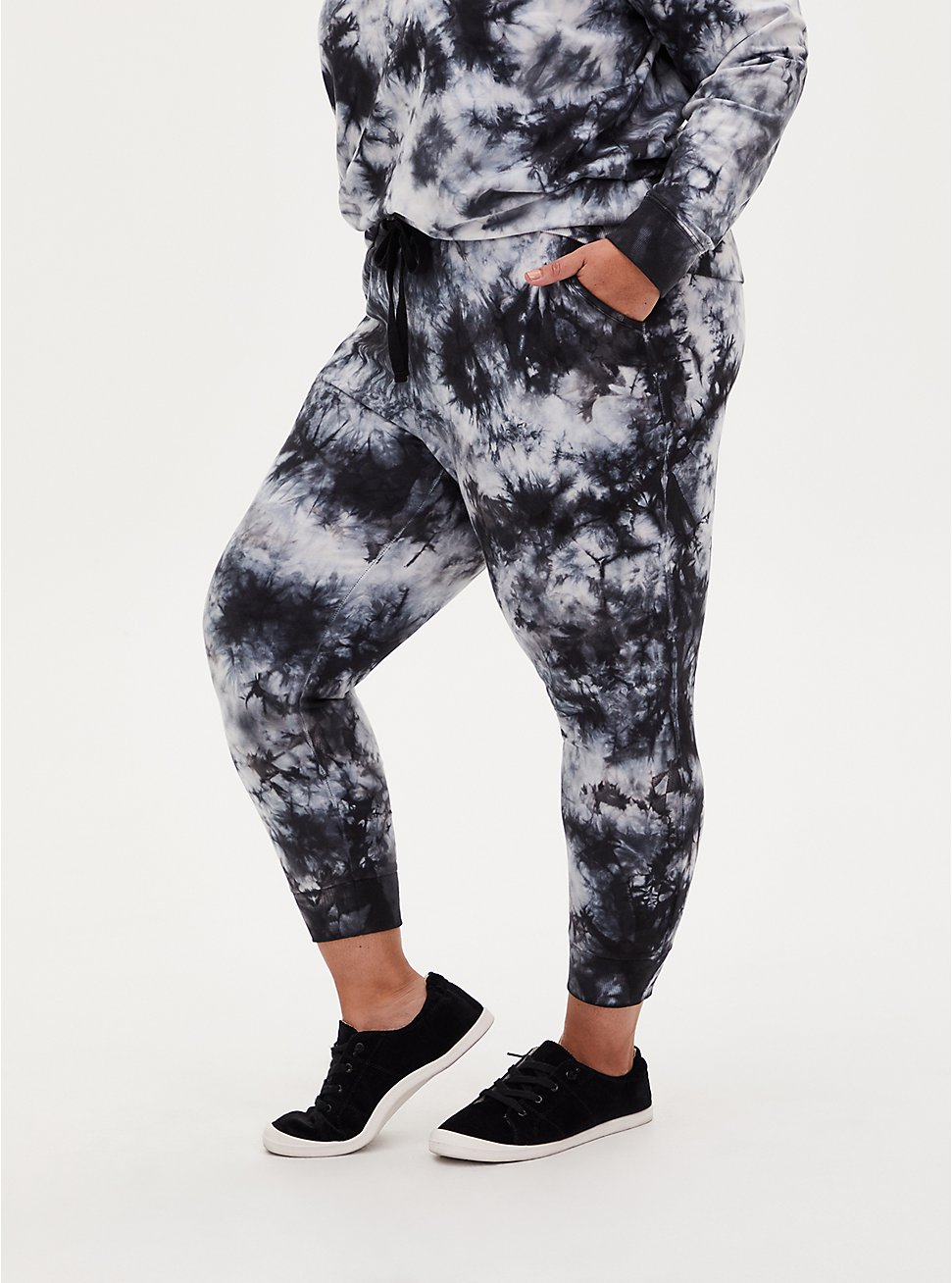 Classic Fit Active Jogger - Terry Tie-Dye Black & Grey, TIE DYE, hi-res