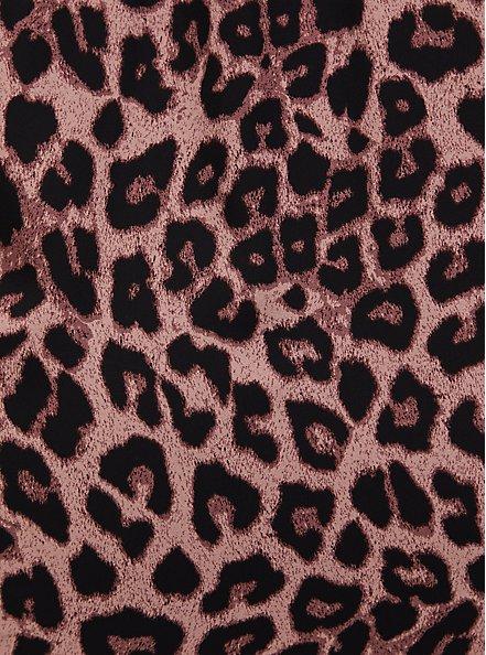 Leopard Georgette Tie Neck Peasant Blouse, MIDI LEOPARD, alternate
