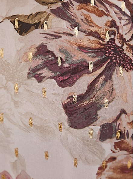 Lexie - Ivory Floral Chiffon Hi-Lo Babydoll Tunic, FLORAL - IVORY, alternate