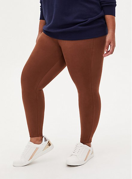 Platinum Legging - Faux Suede Cognac , BROWN, alternate
