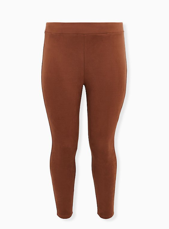 Platinum Legging - Faux Suede Cognac , BROWN, ls