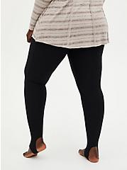 Platinum Stirrup Leggings - Fleece Lined Black  , BLACK, alternate