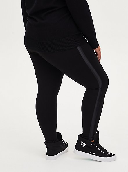 Platinum Tuxedo Legging - Ponte Black , BLACK, alternate