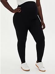 Maternity Legging - Fleece Lined Black, BLACK, alternate