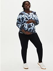 Plus Size Maternity Legging - Fleece Lined Black, BLACK, hi-res