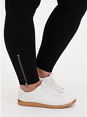 Platinum Zip Legging - Ponte Black, BLACK, alternate