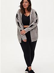 Grey Bolt Hooded Cardigan, HEATHER GREY, alternate