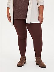 Premium Legging - Rust Brown, BROWN, alternate