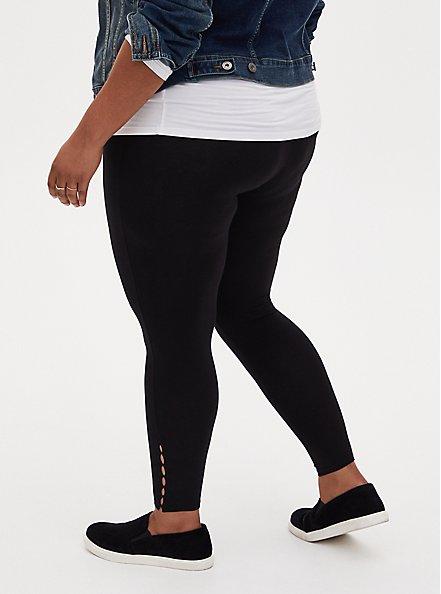 Premium Legging - Mini Cutouts Black, BLACK, alternate