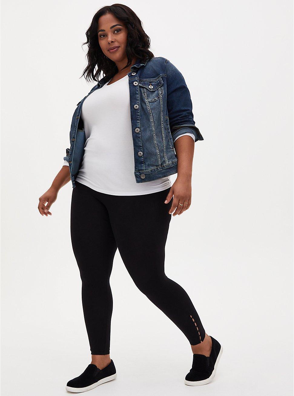 Premium Legging - Mini Cutouts Black, BLACK, hi-res