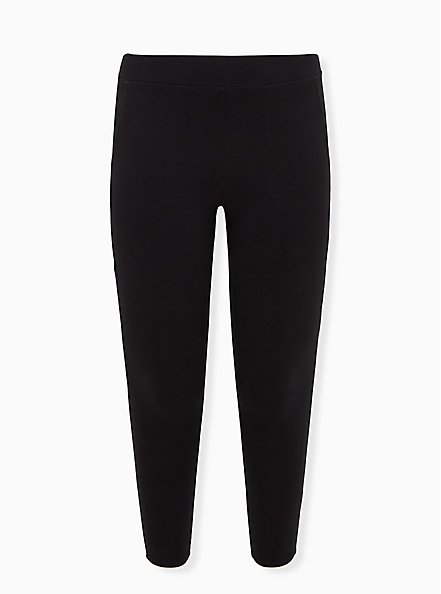 Premium Legging with Pockets - Black, BLACK, hi-res