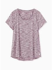 Burgundy Purple Space-Dye Hi-Lo Active Tee , WINETASTING, hi-res