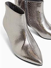 Pewter Snakeskin Faux Leather Kitten Heel Bootie (WW), PEWTER GREY, alternate