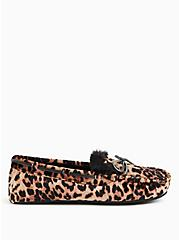 Leopard Velvet Bow Faux Fur Slipper (WW), ANIMAL, alternate
