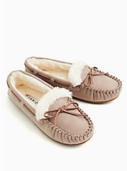 Taupe Bow Fur Slipper  (WW), TAUPE, alternate
