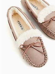 Taupe Bow Fur Slipper  (WW), TAUPE, hi-res