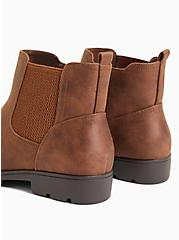 Chestnut Oiled Faux Leather Chelsea Ankle Boot (WW), BROWN, alternate