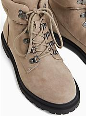 Taupe Faux Suede Hiker Lug Boot (WW), TAN/BEIGE, alternate