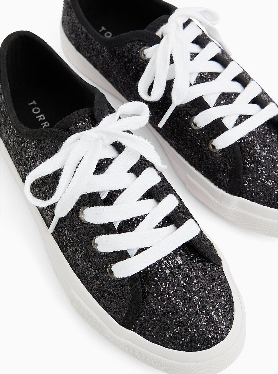 Black-Tone Metallic Glitter Sneaker (WW), BLACK, hi-res