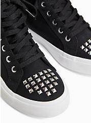 Black Skull High-Top Sneaker (WW), BLACK, alternate