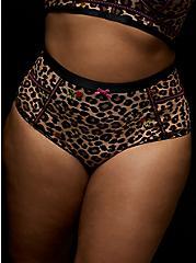 Betsey Johnson Leopard Floral High Waist Panty, LEOPARD ROSE BUD, hi-res