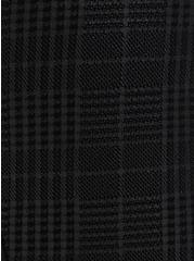 Plus Size Platinum Legging - Coated Ponte Plaid Black , BLACK, alternate