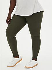 Platinum Legging - Hacci Olive Green, GREEN, alternate