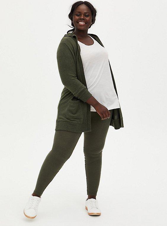 Platinum Legging - Hacci Olive Green, GREEN, hi-res