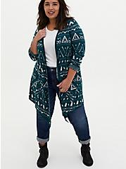 Harry Potter Fair Isle Holiday Teal Cardigan , CLOUD DANCER, alternate