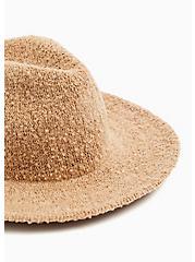 Dark Taupe Boucle Panama Hat, TAN/BEIGE, alternate