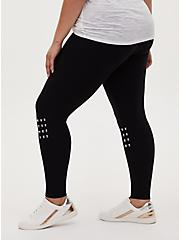Premium Legging - Pyramid Stud Black, BLACK, alternate