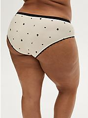 Super Soft Mini Skull Charm Beige Hipster Panty, ROSE DUST, alternate